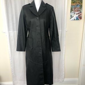 Long Leather Coat, 6